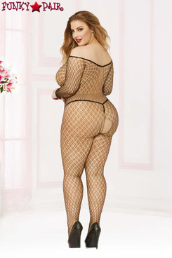 Off The Shoulder Bodystocking STM-20464X Plus Size