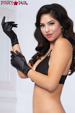 Lamé and Lace Gloves STM-40182