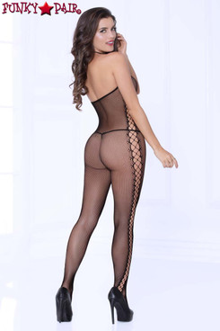 STM-20468, Cami Fishnet Bodystocking back view