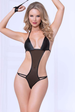 STM-11001, 2pc Mesh and Lamé Teddy Set by Seven Till Midnight