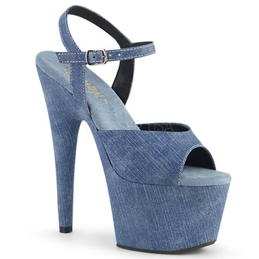 Adore-709WRD, Ankle Strap Rainbow Glitter Platform Sandal Pleaser Shoes