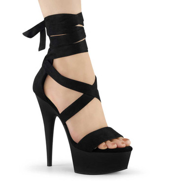 "Delight-671, 6"" Criss Cross Ankle Wrap Sandal 