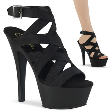 Stripper Shoes | Kiss-241, Triple Criss Cross Wrap Around Sandal