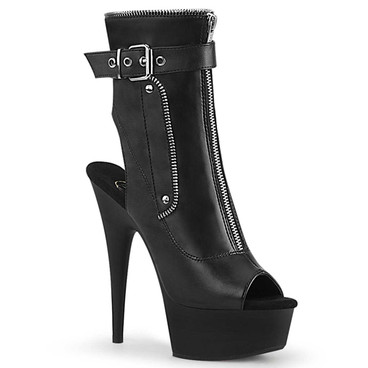 Delight-1035, Open/Toe Buckle Ankle Boots | Pleaser Boots