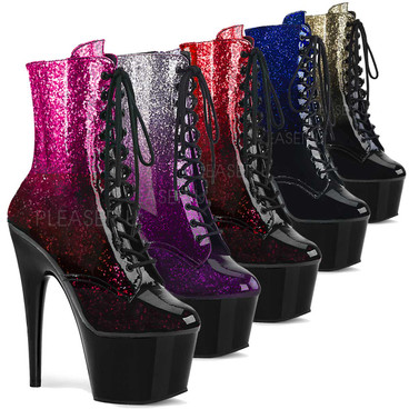 Stripper Boots Adore-1020OMB, Ankle Boots with Ombre Effect