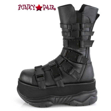 Neptune-210, Men's Midcalf Boots with Multi Straps Side View by Demonia