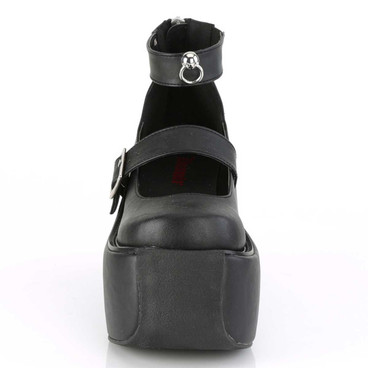 Violet-32, Goth Platform Maryjane Sandal with Ankle Band | Demonia Front View