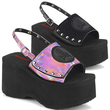 Funn-32, Platform Sandal with Slingback | Demonia Women Shoes