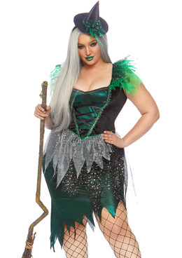 Plus Size Wicked Witch Costume by Leg Avenue LA-86816X