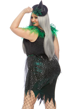 Leg Avenue LA-86816X, Plus Size Wicked Witch Costume Back View