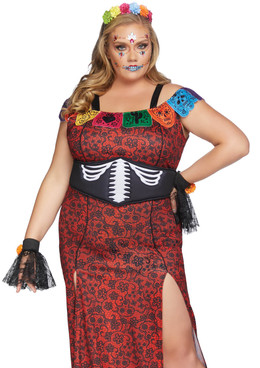 Plus Size | Deluxe Day of the Dead Costume by Leg Avenue LA-86871X