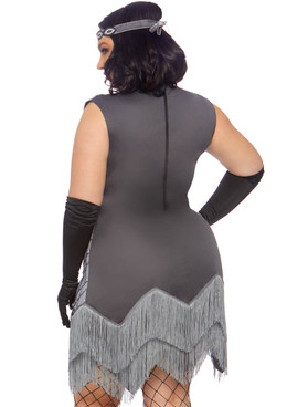 Leg Avenue LA-86855X, Plus Size Roaring Roxy Flapper Costume Back View