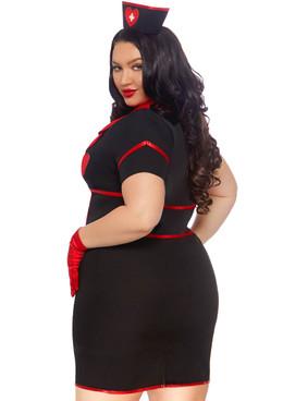 Leg Avenue LA-86857X, Plus Size Bedside Babe Nurse Costume