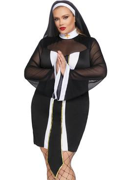 Leg Avenue LA-86736X, Twisted Sister Nun Costume Front View
