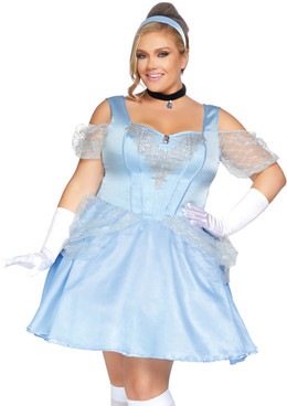 Plus Size Glass Slipper Sweetie Costume by Leg Avenue LA-86879X