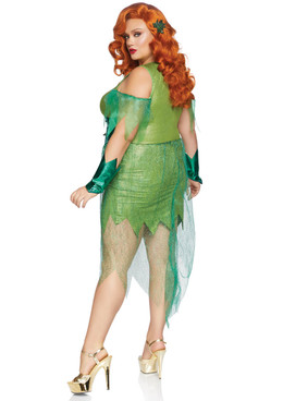 leg Avenue LA-86872X, Plus Size Perfect Poison Costume Back View