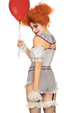 LA-86830, Women's Killer Sewer Clown Costume by Leg Avenue  Back View