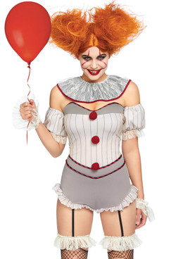 LA-86830, Women's Killer Sewer Clown Costume by Leg Avenue