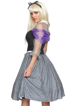 Pleaser | LA-86831, Peasant Sleeping Princess back view