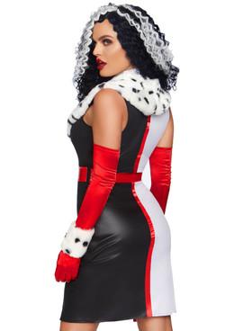 LA-86809 Devilish Diva Costume by Leg Avenue Back View