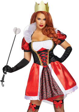 LA-86839, Wonderland Queen Costume by Leg Avenue