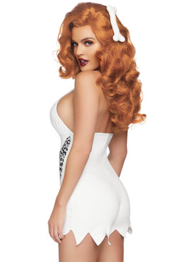 LA-86821, Women's Bedrock Babe Costume by Leg Avenue back view