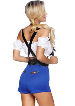 LA-86820, Lederhosen Honey Costume by Leg Avenue back view