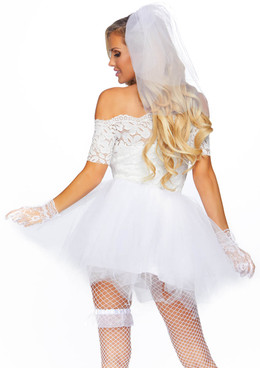 Leg Avenue LA-86826, Blushing Bride Costume back view