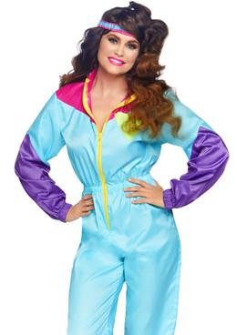 Women's Awesome 80s Track Suit Costume, Leg Avenue LA-86813