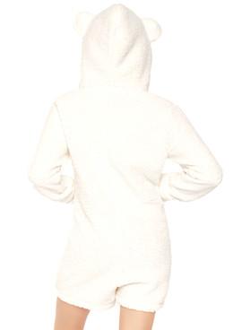 LA-86642, Women's Cuddle Polar Bear Costume by Leg Avenue | back view