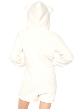 LA-86642, Women's Cuddle Polar Bear Costume by Leg Avenue | back view