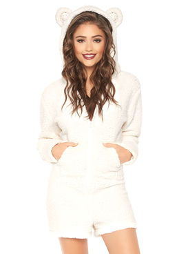 Leg Avenue | LA-86642, Women's Cuddle Polar Bear Costume