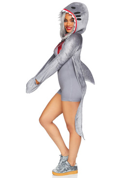 Leg Avenue LA-86873, Wo-Man-Eating Shark Costume Side View