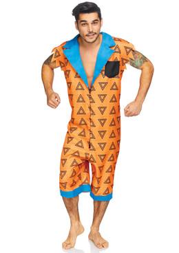 Leg Avenue LA-86843, Men's Bedrock Bro Costume Full View