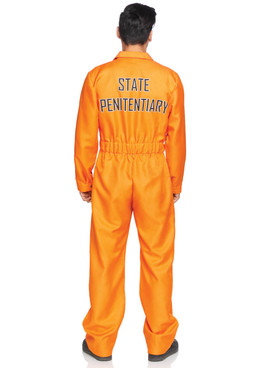 LA-86877, Men's Prison Jumpsuit Costume by Leg Avenue Back View