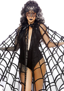 Velvet Web Cape | Leg Avenue LA-86868