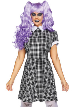 Women's Plaid Babydoll Dress Costume by Leg Avenue | LA-86828