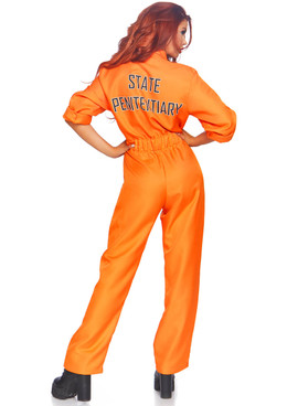 LA-86858, Women's Prison Jumpsuit Costume by Leg Avenue Back View