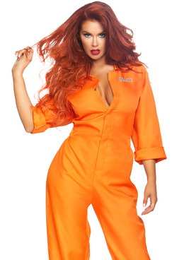 Women's Prison Jumpsuit Costume by Leg Avenue LA-86858