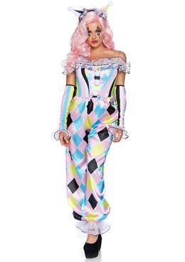 Leg Avenue | LA-86865, Women's Pretty Parisian Clown Costume Full View