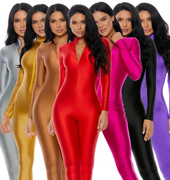 FP-119404, Mock Neck Jumpsuit by Forplay Costume