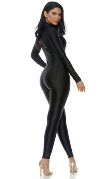 Mock Neck Black Jumpsuit by Forplay Costume FP-119404,