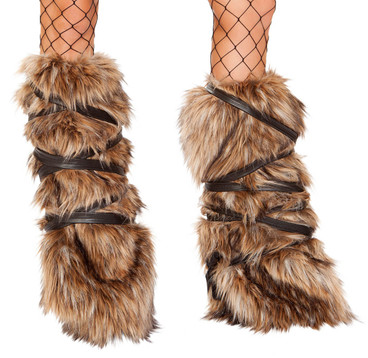 R-4894, Faux Fur Leg Warmers by Roma Costume