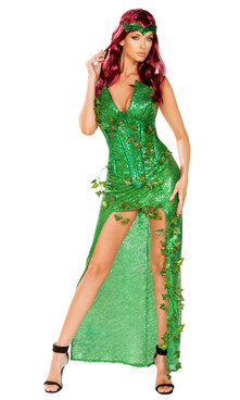 Sexy Poison Ivy Lover Costume by Roma R-4906, Front Full View