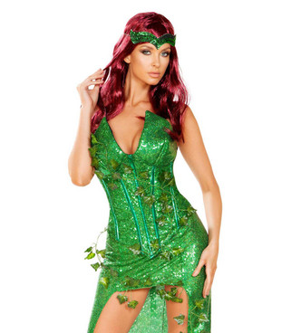 R-4906, Sexy Poison Ivy Lover Costume by Roma