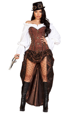 Women Machinery Steampunk Costume Roma | R-4917 Full View