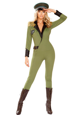Military Army Babe Costume by Roma R-4924, Full View