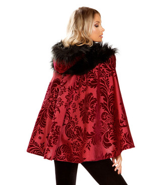 Fancy Red Ridding Hood Costume by Roma R-4937, Back View
