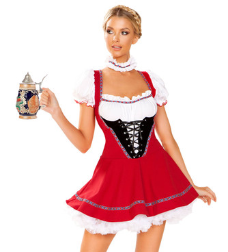 R-4947, October Fest Beer Wench Costume