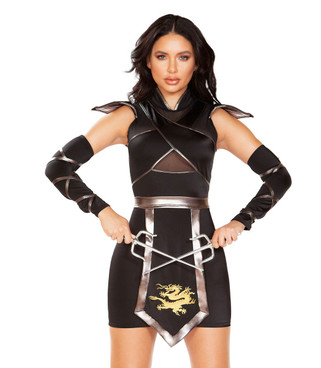 R-4899, Women's Ninja Warrior Costume by Roma